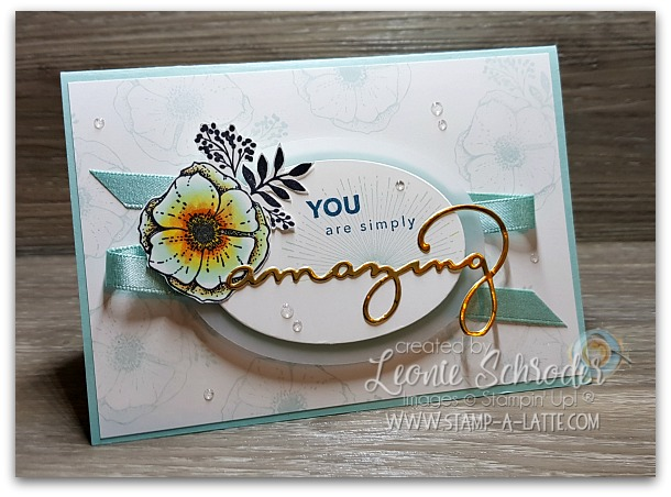 simply amazing you by Leonie Schroder Independent Stampin Up! Demonstrator Australia