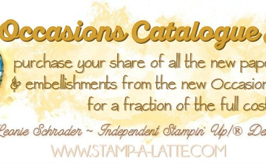 Occasions Catalogue Product Shares with Leonie Schroder Independent Stampin' Up! Demonstrator Australia