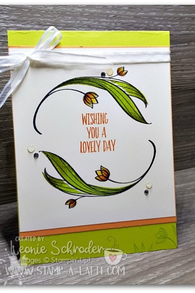 Lovely Wishes card by Leonie Schroder Indpendent Stampin' Up! Demonstrator Australia
