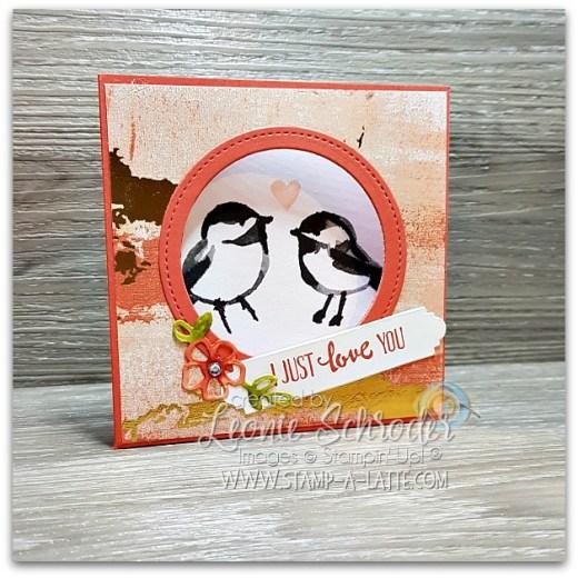 Corner Flip Card for Valentine's Day by Leonie Schroder Independent Stampin' up! Demonstrator Australia