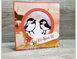 Corner Flip Card for Valentine's Day by Leonie Schroder Independent Stampin' up! Demonstrator Australia