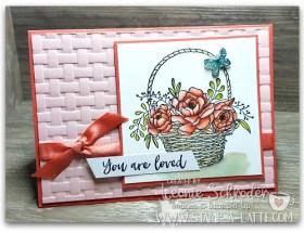 Basket of Blossoms by Leonie Schroder Independent Stampin' Up! Demonstrator Australia