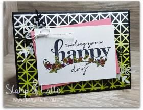Happy Wishes created by Leonie Schroder Independent Stampin' Up! Demonstrator Australia
