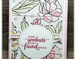 Sprintime Foils Card using Half Sheet Wonder by Leonie Schroder Independent Stampin' Up! Demonstrator Australia