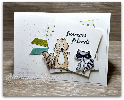 fur-ever friends with We Must Celebrate by Leonie Schroder Independent Stampin' Up! Demonstrator Australia