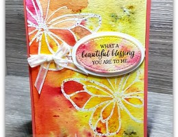 Beautiful Day Butterfly with Brusho by Leonie Schroder Independent Stampin' Up! Demonstrator Australia