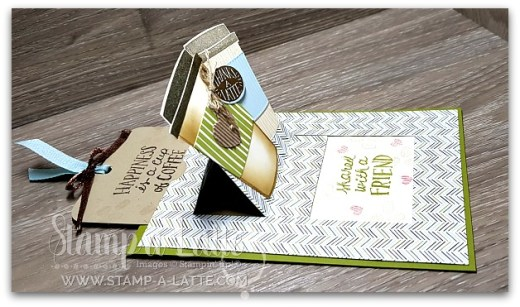 Coffee Cafe Surprise Pop-Up Card by Leonie Schroder Independent Stampin' Up! Demonstrator Australia