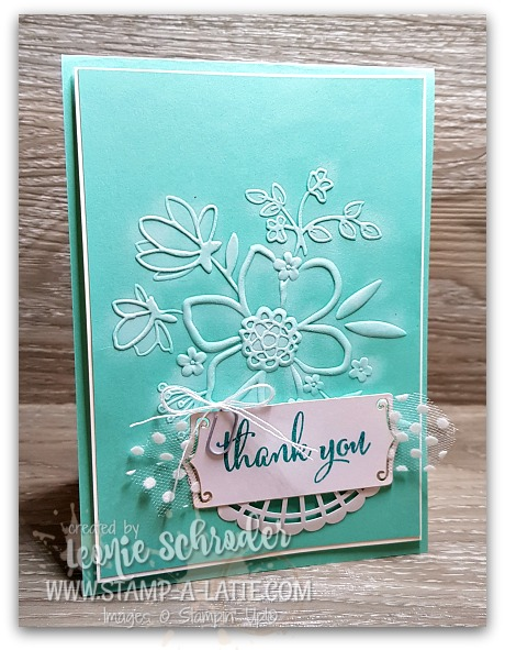 Lovely Florals in White on Coastal Cabana by Leonie Schroder Independent Stampin' Up! Demonstrator Australia