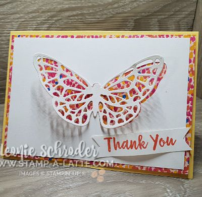Abstract Butterfly using Garden Impressions Paper Stack by Leonie Schroder Independent Stampin' Up! Demonstrator Australia