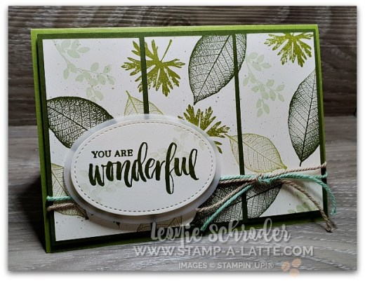 Triptych Leaves using Nature's Poem by Leonie Schroder Independent Stampin' Up! Demonstrator Australia