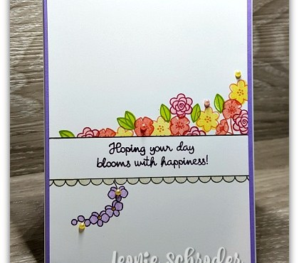 Bordered Sentiment Card using Varied Vases by Leonie Schroder Independent Stampin' Up! Demonstrator Australia