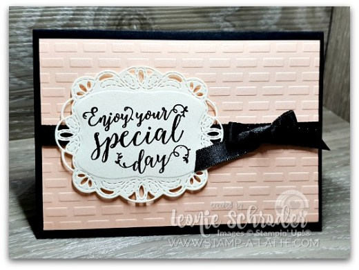 Stiched Emboss by Leonie Schroder Independent Stampin' Up! Demonstrator Australia