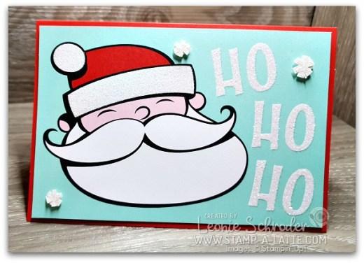 Ho Ho Ho Santa Card by Leonie Schroder Independent Stampin' Up! Demonstrator Australia