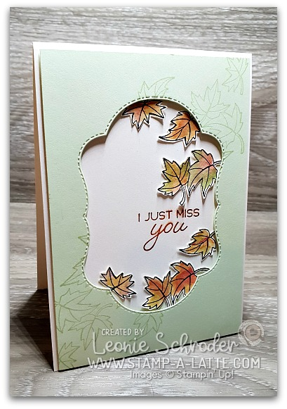 Blended Leaves card using Colour Your Season Bundle by Leonie Schroder Independent Stampin' Up! Demonstrator Australia