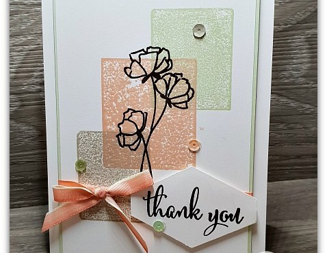 Acrylic Block Stamping with Love What You Do Stamp Set by Leonie Schroder Independent Stampin' Up! Demonstrator Australia
