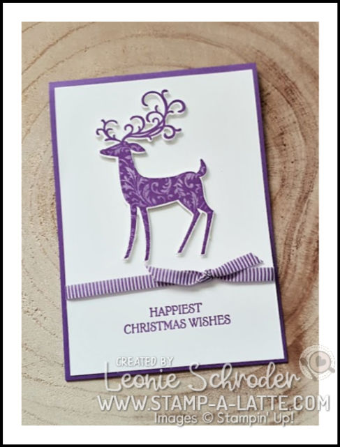 Gorgeous Deer using Dashing Deer and Gorgeous Grape by Leonie Schroder Independent Stampin' Up! Demonstrator Australia