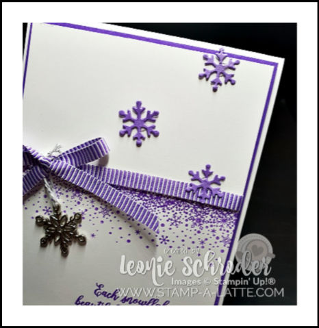 Gorgeous Glistening SNowflakes by Leonie Schroder Independent Stampin' Up! Demonstrator