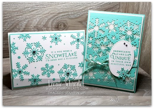 Beautiful BLizzard 2 for 1 cards by Leonie Schroder Independent Stampin' Up! Demonstrator Australia
