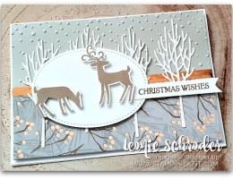 Dashing Deer in the WInter Woods by Leonie Schroder Indpendent Stampin' Up! Demonstrator Australia