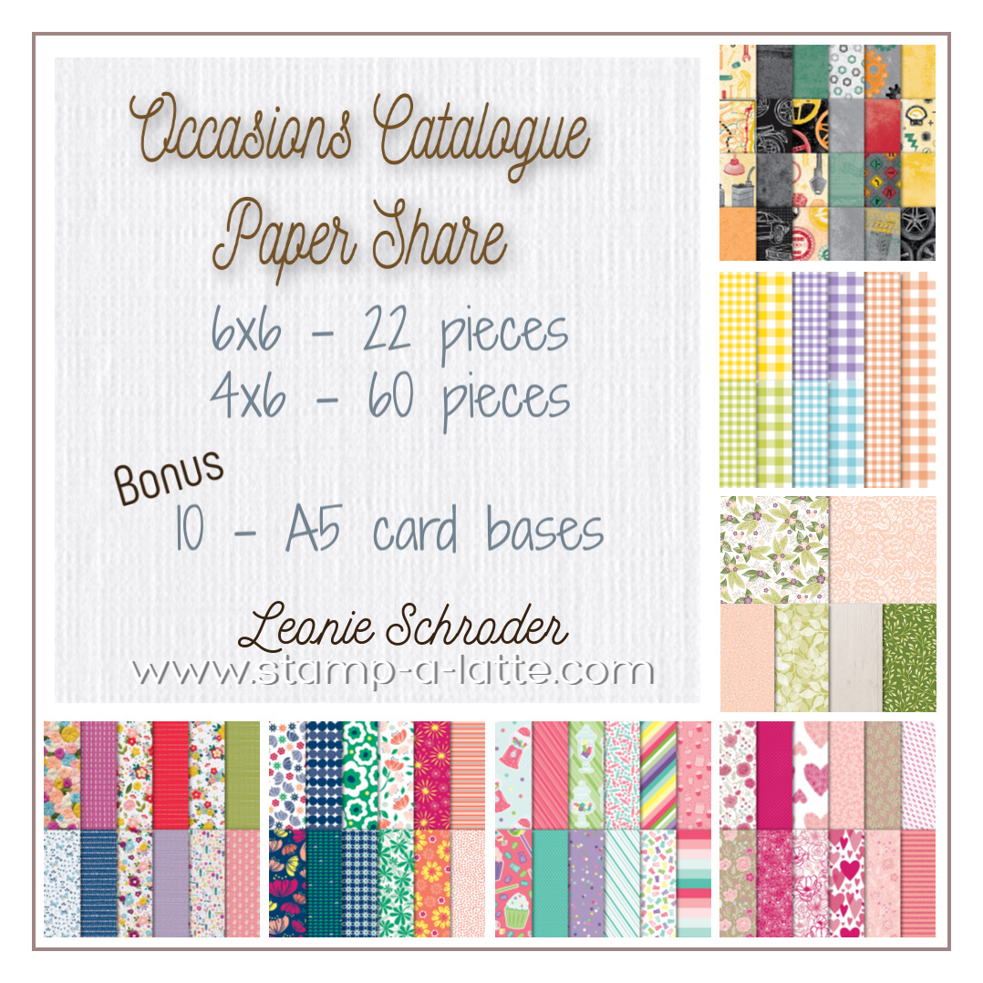 Occasions Catalogue Paper Share with Leonie Schroder Independent Stampin Up Demonstrator Australia