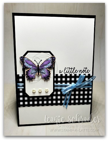 Botanical Butterfly Note by Leonie Schroder Independent Stampin' Up! Demonstrator AUstralia