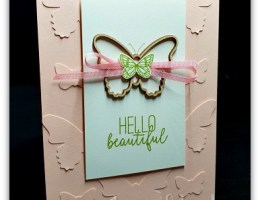 Butterfly Gala Faux Embossing by Leonie Schroder Independent Stampin' Up! Demonstrator Australia
