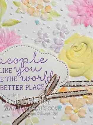 Painted Country Floral Card by Leonie Schroder Independent Stampin' Up! Demonstrator Australia