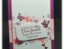 True Friend using Beauty Abounds and Strong & Beautiful by Leonie Schroder Independent Stampin' Up! Demonstrator Australia