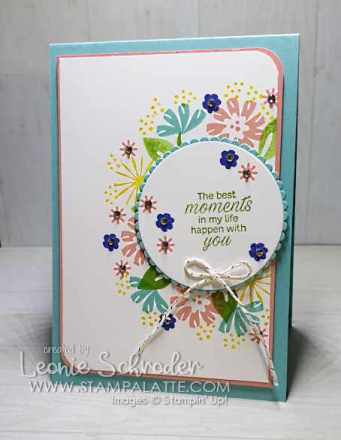Bloom Moments Card by Leonie Schroder Independent Stampin' Up! Demonstrator Australia