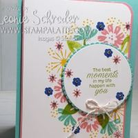 Bloom by Bloom Moments Card by Leonie Schroder Independent Stampin' Up! Demonstrator Australia