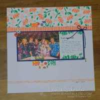 Happiness Blooms 12x12 Layout by Leonie Schroder Independent Stampin' Up! Demonstrator Australia