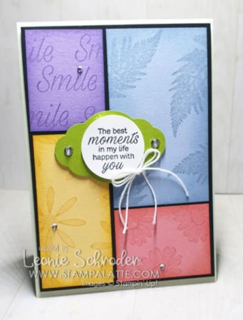 Colour Blocking with Cardstock using Daisy Lane Stamp Set by Leonie Schroder Independent Stampin' Up! Demonstrator Australia