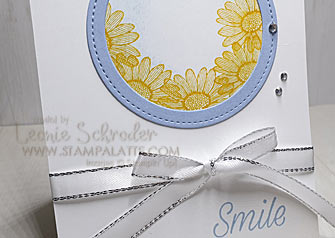 Masked Daisy Smile using Daisy Lane by Leonie Schroder Independent Stampin Up Demonstrator Australia