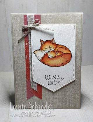 Wildly Happy with Watercolor Technique by Leonie Schroder Independent Stampin' Up! Demonstrator Australia