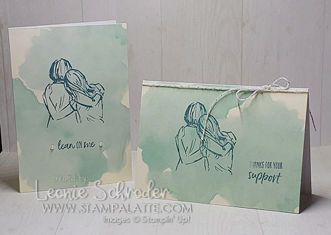 Lean on Me using Artfully Aware by Leonie Schroder Independent Stampin' Up! Demonstrator Australia