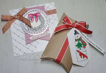Create sweet Christmas Gift packages using the Lots of Cheer Stamp Set. Projects created by Leonie Schroder Independent Stampin' Up! Demonstrator