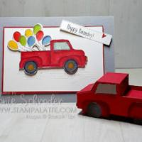 Birthday Truck using Ride with Me Bundle for the BIrthday Boy by Leonie Schroder Independent Stampin' Up! Demonstrator Australia