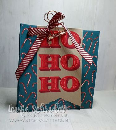Christmas Gift Bag using the Night Before Christmas Suite from Stampin' Up! by Leonie Schroder Independent Stampin' Up! Demonstrator Australia