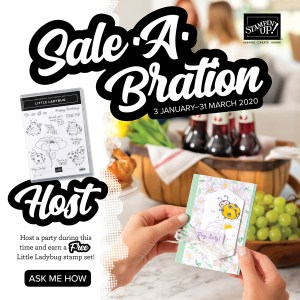 Host during Saleabration with Leonie Schroder Independent Stampin' Up! Demonstrator Australia