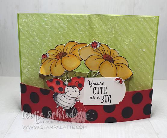 Little Ladybug Bendy Pop Card by Leonie Schroder Independent Stampin' Up! Demonstrator Australia
