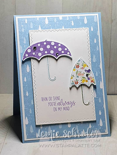 Fun card using Under my Umbrella and Coordination Products by Leonie Schroder Independent Stampin' Up! Demonstrator Australia