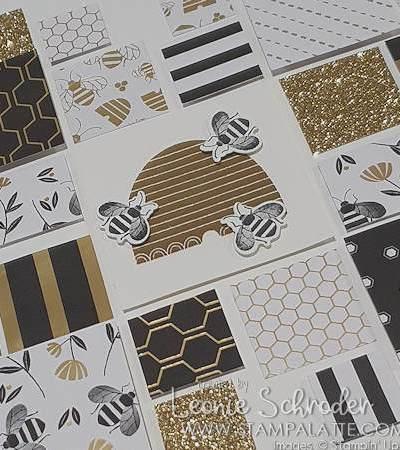 Golden Honey Bee Frame by Leonie Schroder Independent Stampin' Up! Demonstrator Australia