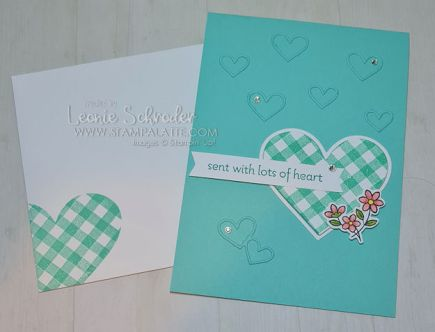 sent with Love card by Leonie Schroder Independent Stampin Up Demonstrator Australia