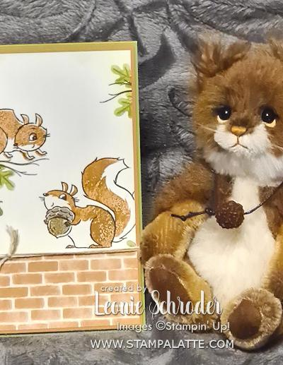 Nuts about You Birthday Card using Nuts about Squirrels by Leonie Schroder Independent Stampin Up Demonstrator Cobden Victoria Australia