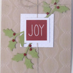 Holly Card Paper Pumpkin