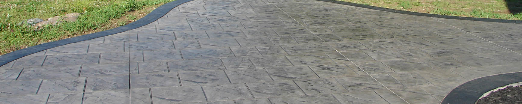 No Concrete Color Stamped