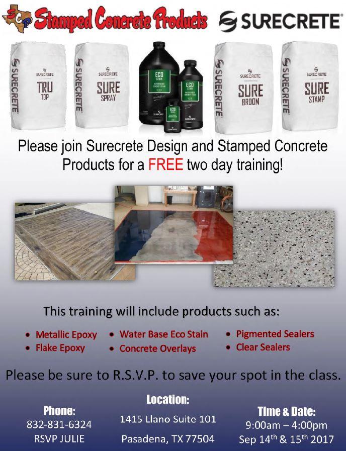 Decorative Concrete Training decorative concrete training classes - houston