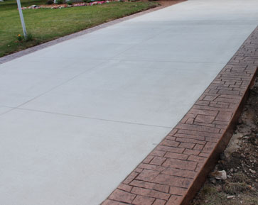 Concrete Contractors In Rochester Hills Mi Driveway Replacement Metropolitan With Stamped Borders
