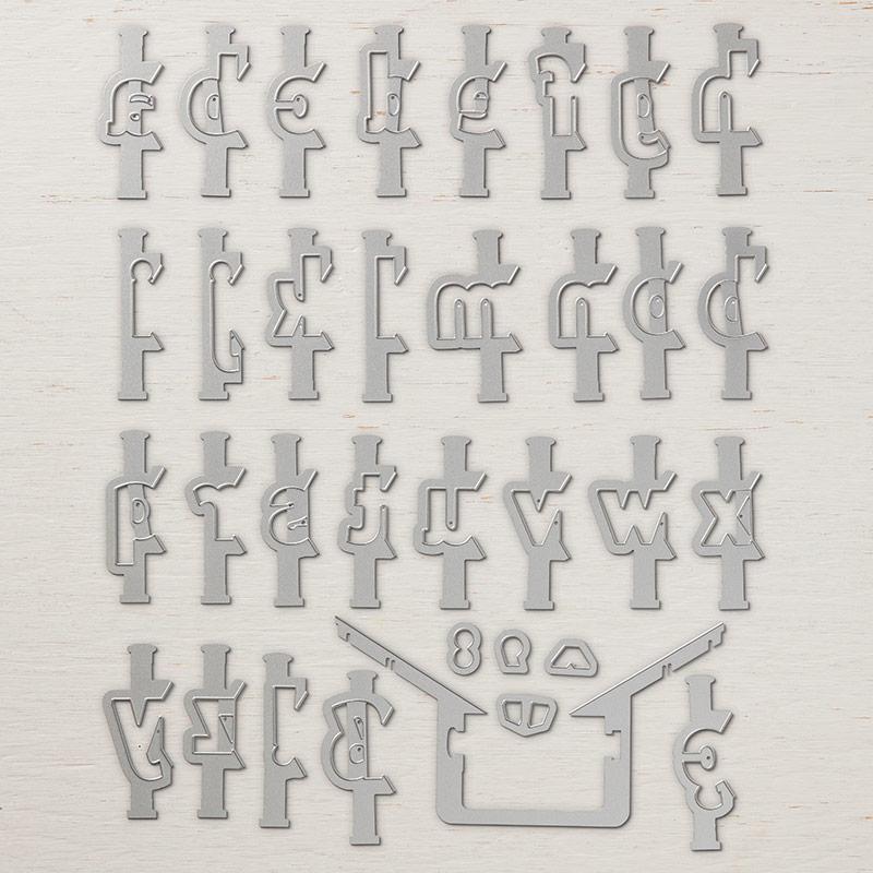 Layering Alphabet Edgelits Dies