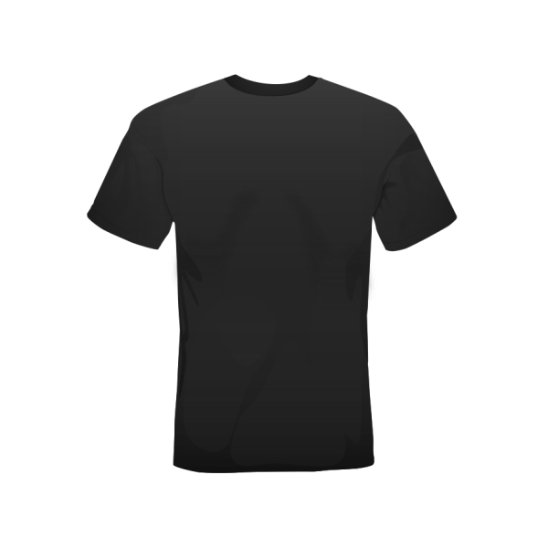 T-shirt black retro